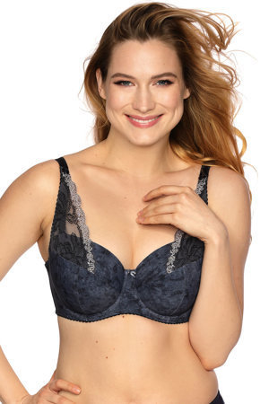 Gaia underwired lace padded bra 850 Cristal
