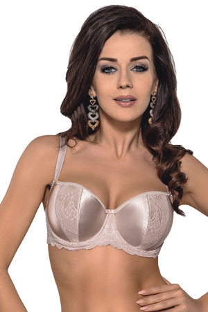 Gorsenia K241 Leila underwired padded balcony bra adjustable straps
