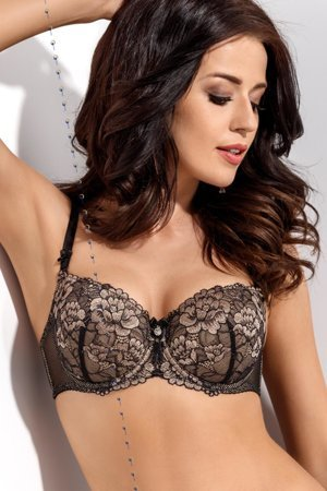 Gorsenia K250 Ivonne underwired padded bra adjustable non removable straps