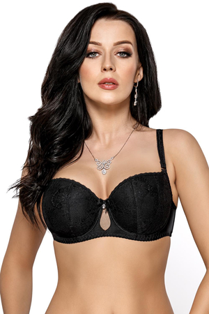 Gorsenia underwired padded lace balcony bra K423 Nellie