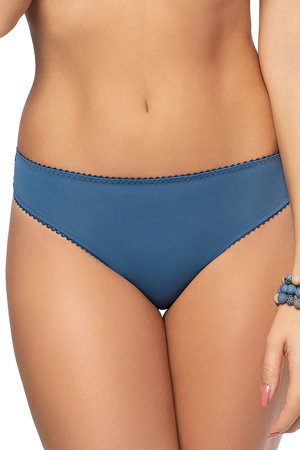 Gorsenia women's embroidered brazilian briefs K489 Blue Tatoo