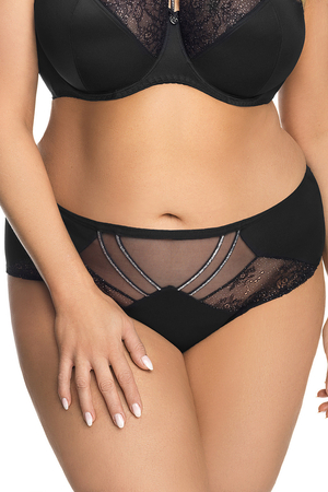 Gorsenia women's lace briefs K540 Glossy