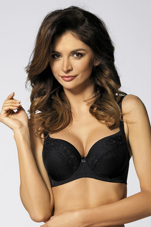 Gorteks Yvette/B4 underwired padded bra smooth emrboidery pattern