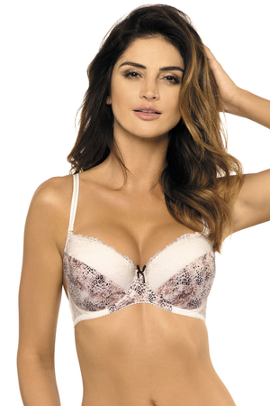 Gorteks underwired animal pattern push-up bra Dolores/B1