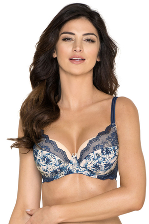 Gorteks underwired lace floral padded bra Edith/B4