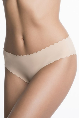 Julimex Lingerie women's smooth scalloped edge Shellie briefs