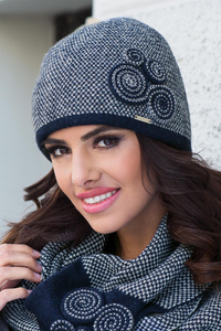 26fce63ea7e Kamea Silvia hat thick wool decorated patterned casual warm winter
