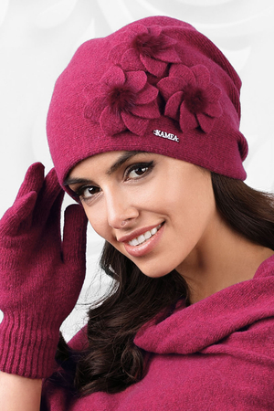 Kamea smooth woolen flower women's hat Teramo