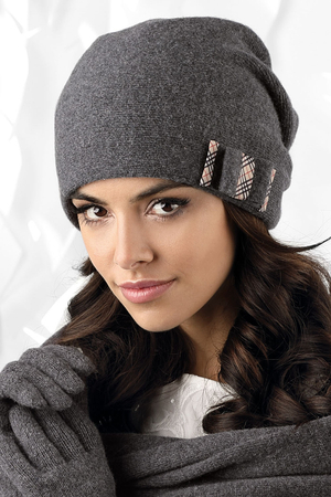 Kamea smooth woolen women's hat Belluno