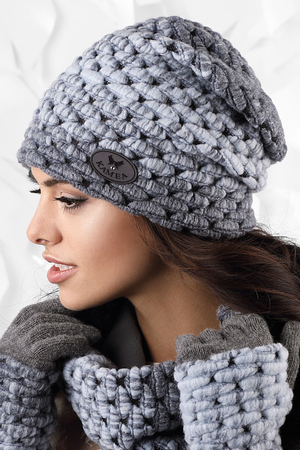 Kamea woolen thick patterned women's hat Ombre