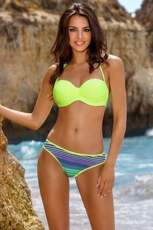 Lorin underwired striped bikini set push-up L2164/8
