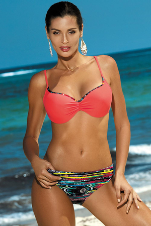 Marko Bella M-424 women's bikini set padded cups adjustable straps aztec print