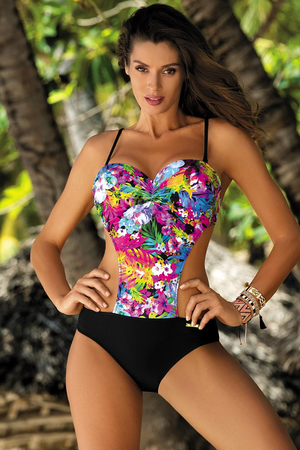 Marko Blanca M-432 women's monokini underwired padded floral pattern