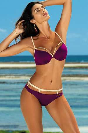 Marko Nathalie M-391 women's bikini set underwired padded stripes smooth