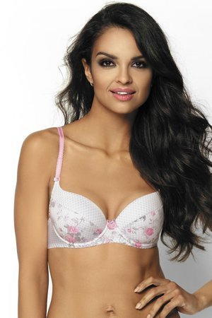 Mat underwired floral padded push-up bra 2636/11 Morea
