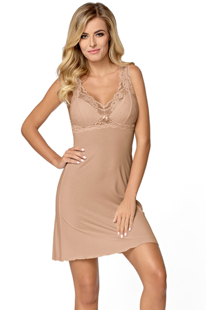 Nipplex Bona women's chemise lacy padded cups not removable straps