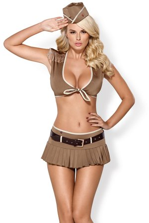 Obsessive 814-CST-4 sexy officer set role play women's mini