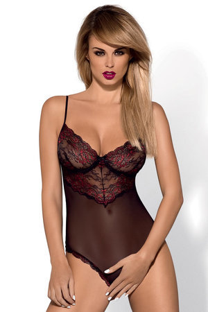 Obsessive Musca seductive crotchless teddy