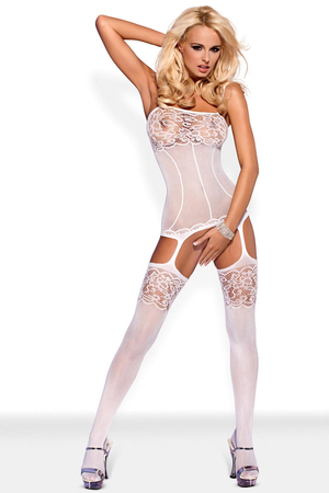 Obsessive sexy sensual Bodystocking F204 with soft mesh