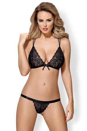 Obsessive women's bra and string lace set 854-SET-1