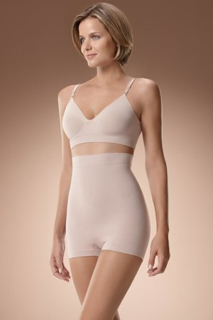 Plie 50099 Boxer High Waist seamless high-rise shapewear body shaper for women