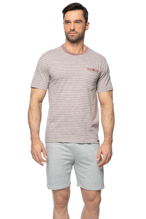 Rossli men's smooth striped pyjama set SAM-PY-153