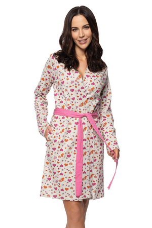 Rossli women's long sleeved hearts dressing gown SAL-ND-2045