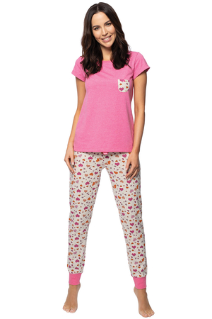 Rossli women's patterned pyjama set SAL-PY-1141