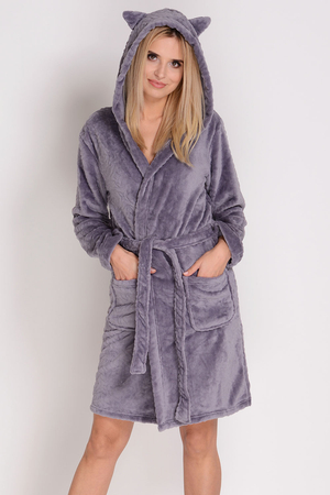 Sesto Senso women's hooded ears robe Zosia