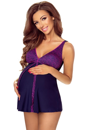 Vivisence maternity polka dot two piece swimsuit 3504