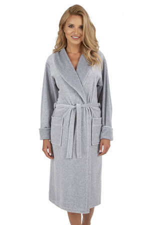 Vivisence women's long sleeved smooth dressing gown 5010