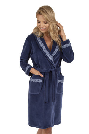 Vivisence women's smooth lace dressing gown robe 5017