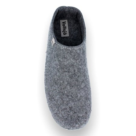 Vollsjo Men's Felt House Slippers Vegan Handmade in Low