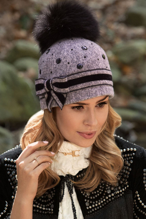 Willi women's fur pompom hat hat Siljetta
