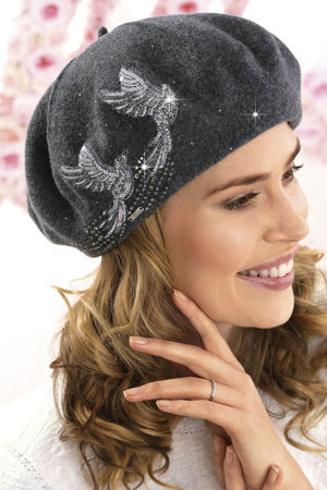 Willi women's patterned woolen beret Ona