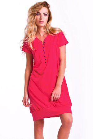 dn-nightwear 5009 classic comfortable short sleeve cotton maternity/nursing nightdress