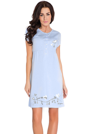 dn-nightwear TCB.7029 subtle feminine maternity/nursing nightdress