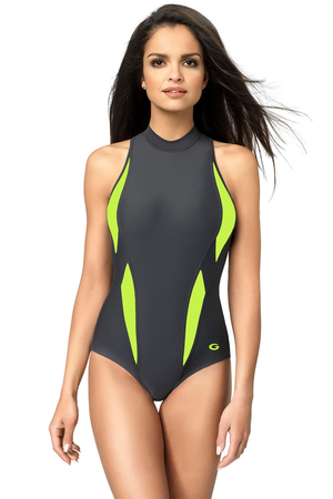 gWINNER Aqua Sport II classic high collar swimsuit –