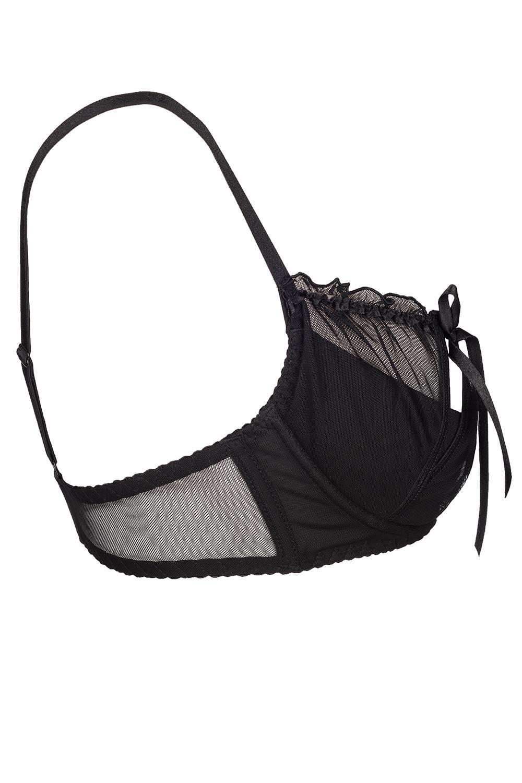 axami v6451 charbon skimpy sexy halfbra black