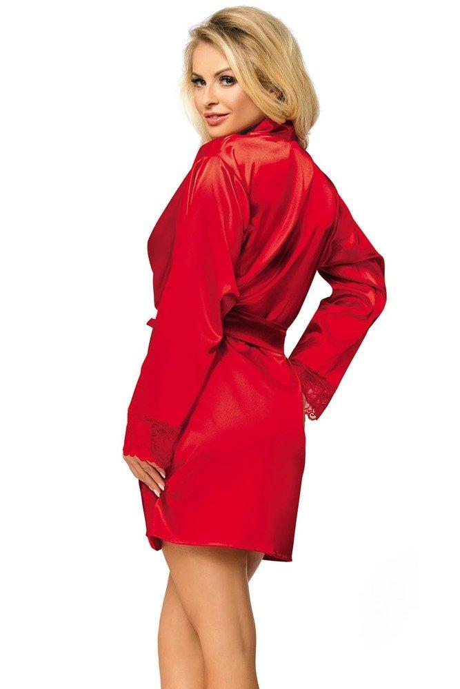 Dkaren satin dressing gown Gosia   Red