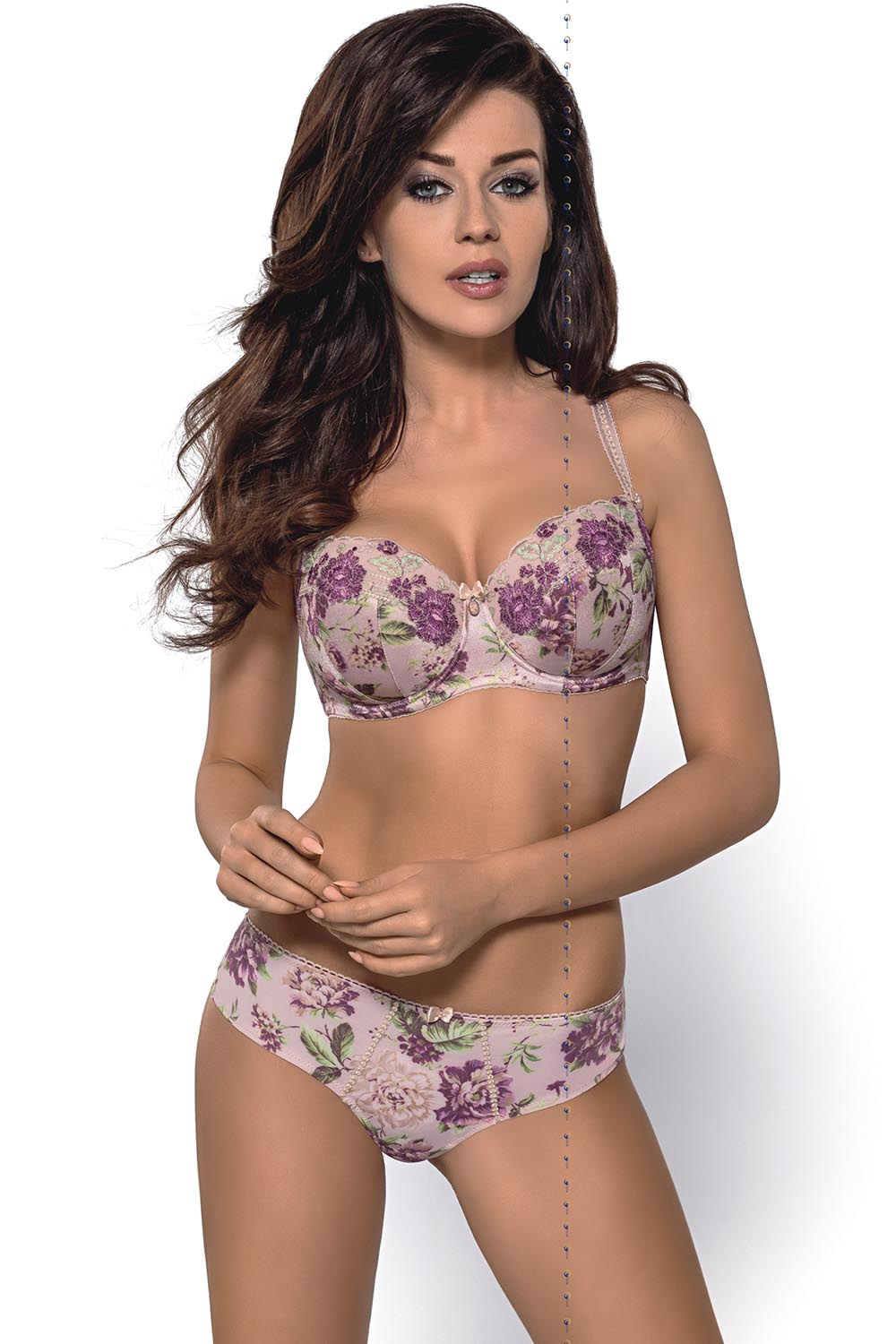6d657c28e7 ... Gorsenia K280 Margo underwired padded floral balconette bra adjustable  straps ...