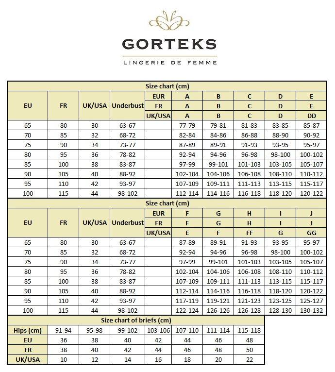 Gorteks women/'s lace briefs Ariana//F