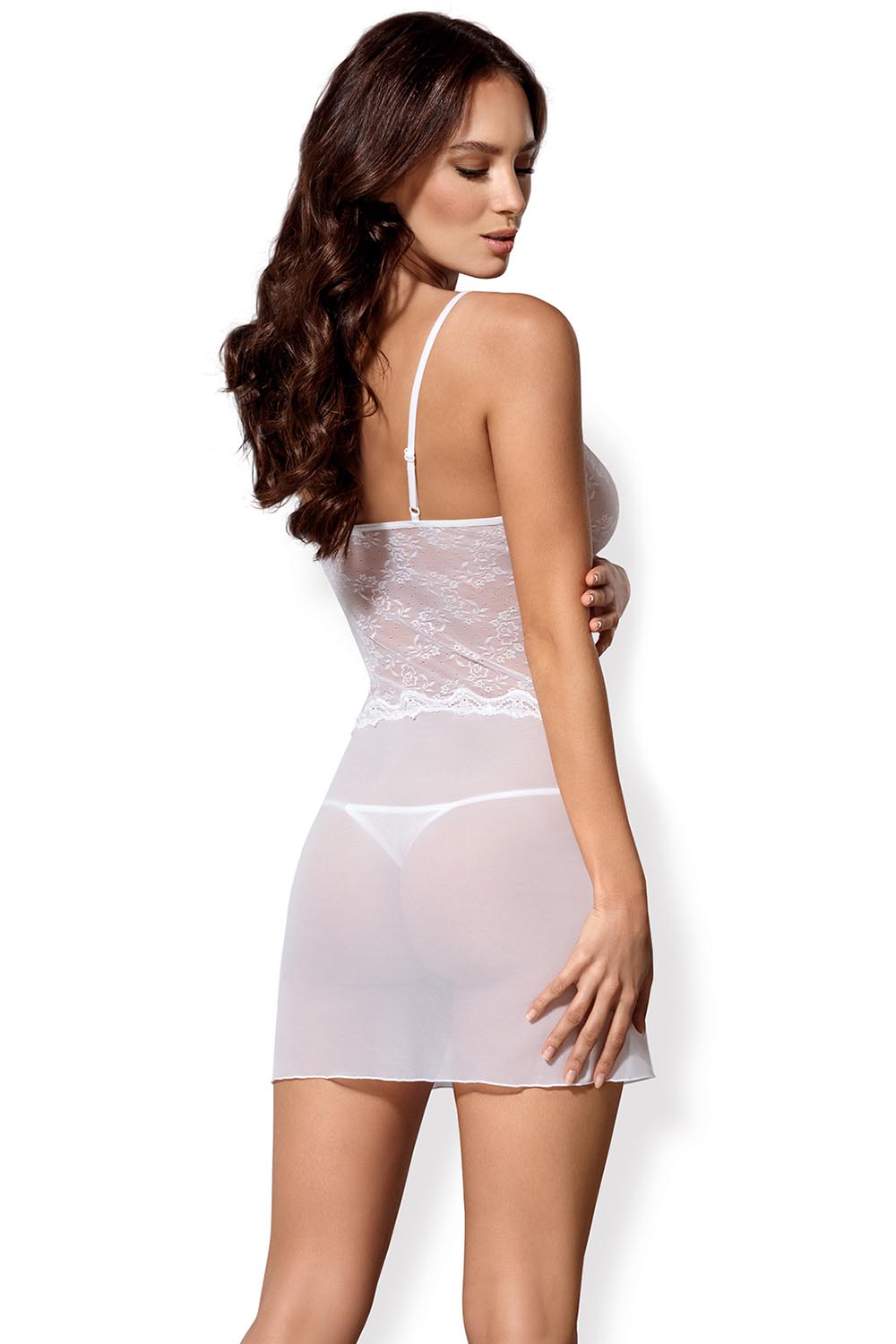 ... Obsessive Charms Set sexy subtle sensual with deep neckline chemise and  thong ... cb1e02b4ab404