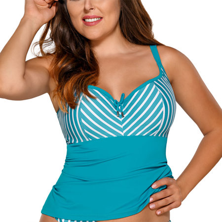Ava ST-11 women's tankini top striped marine