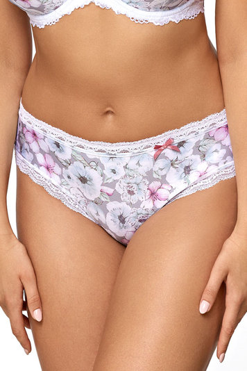 Ava women's floral lace briefs 1766 Ice Garden