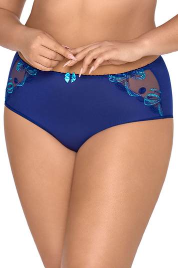 Axami women's smooth embroidery briefs V-8536