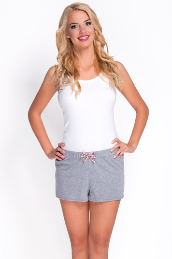Babella 3084-2 women's smooth non patterned pyjama shorts with regular waist