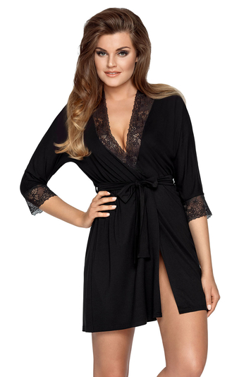 Babella women's lace smooth dressing gown Arlena