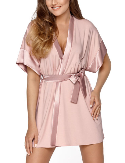 Babella women's smooth satin dressing gown Sabrina