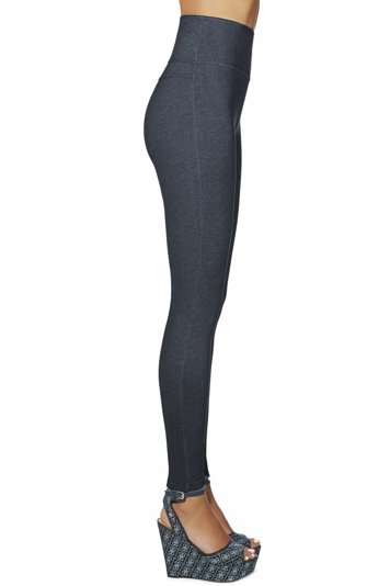 Bas Bleu Blair women's leggings pants jeans-like high waisted thick